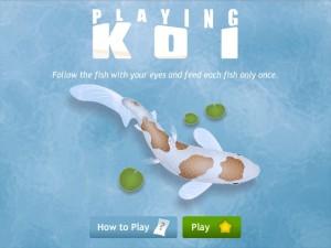"""Playing Koi"" game on lumosity.com"