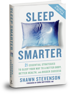 Photo of book cover for Sleep Smarter by Shawn Stevenson